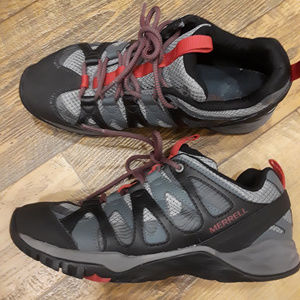 🍎 Merrell 8 Form2 Black, Gray & Red Sz 8 🍎
